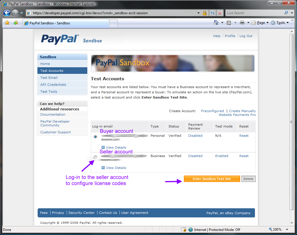 paypal how to add personal and business