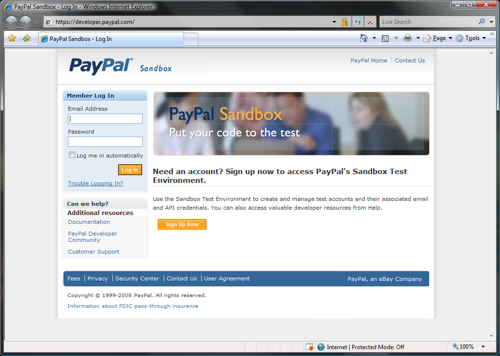 how to create sandbox account in paypal